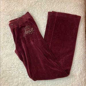 Maroon Juicy Couture pants